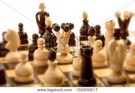 Chess Match In Progress