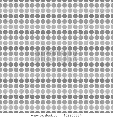 Gray And White Polka Dot  Abstract Design Tile Pattern Repeat Background