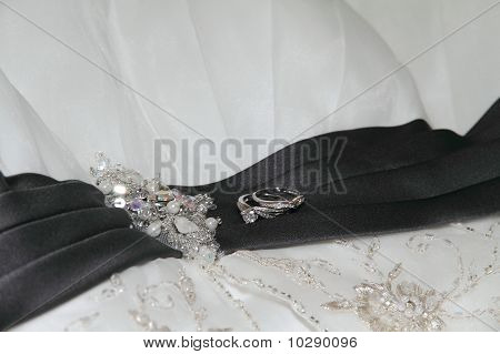Bridal Gown with wedding rings