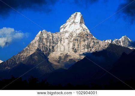 Ama Dablam Peak in Nepal Himalayas