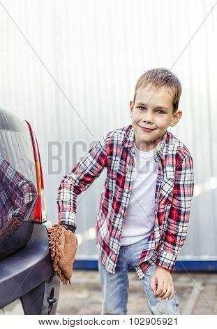 child car washes mitt