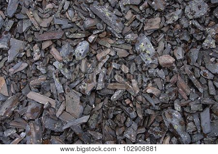 Texture Of Mottled Crushed Stone