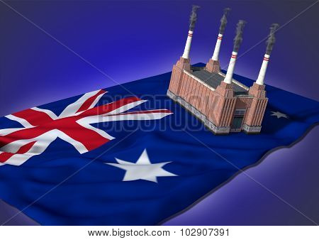 national heavy industry concept - Australian theme