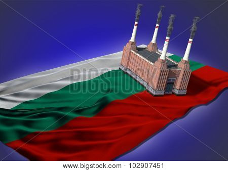 national heavy industry concept - Bulgarian theme