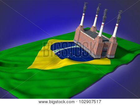 national heavy industry concept - Brazilian theme
