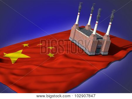 national heavy industry concept - Chinese theme
