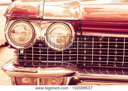 Red retro vintage car