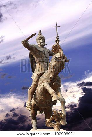 Monument To Vardan Mamikonian In Gyumri
