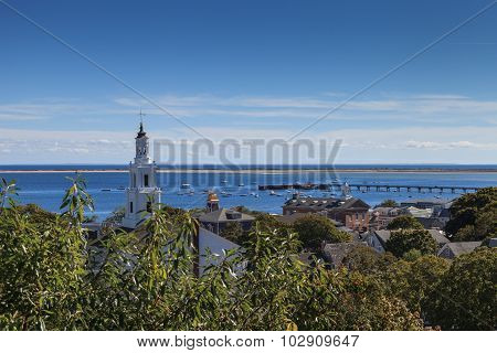 Provincetown, Massachusetts, Cape Cod city view and ocean