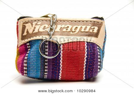 Souvenir Key Chain Change Purse Made In Nicaragua