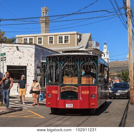 Provincetown, Cape Cod trolley