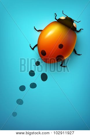 Vector ladybug losing its spots