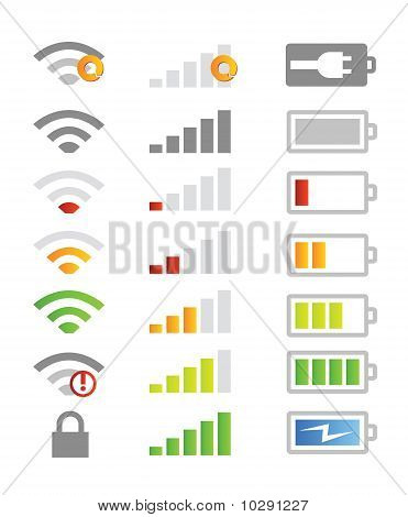 mobile phone device symbols vector