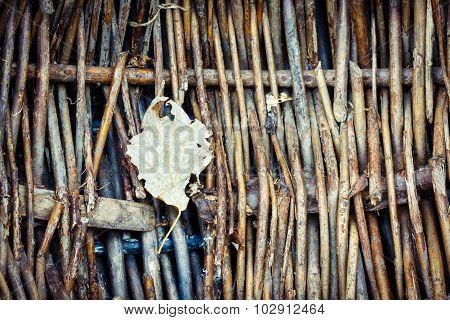 Old dark weave basket texture