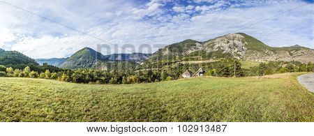 Rural Landscape In Region Les Haut Alpes In France