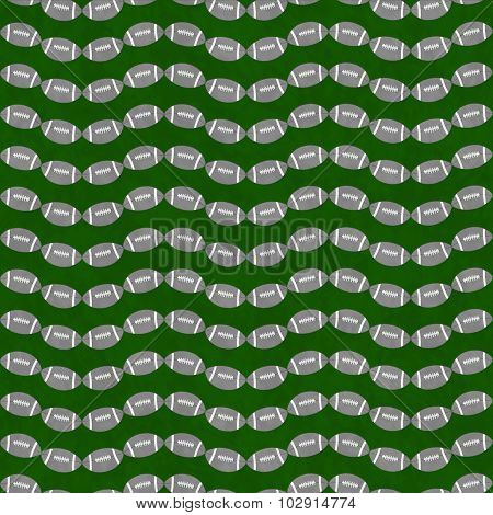 Gray And Green Football Tile Pattern Repeat Background