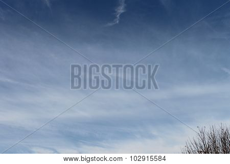 A cloudy sky on a nice day