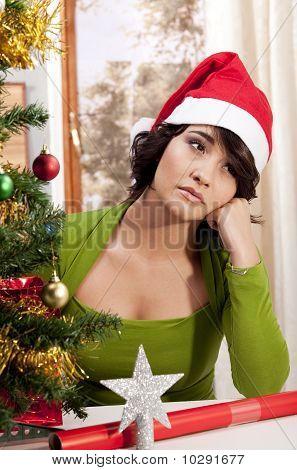 Triste Navidad solitaria