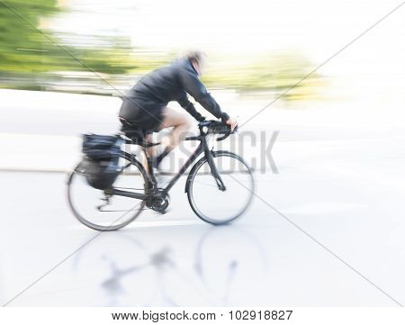 Cyclist At High Speed