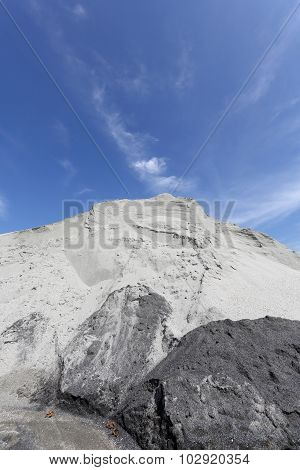 gravel sand mound