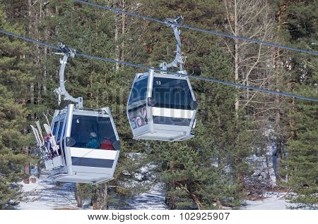 Cable Car At Ski Resort Arkhyz