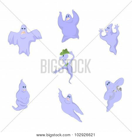 Ghosts on Halloween.