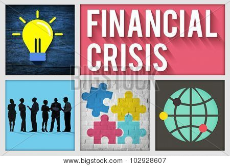 Financial Crisis Accounting Banking Economics Concept