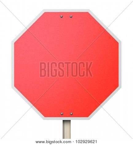 A red octogon shapped sign symbolizing the need to stop, halt or end