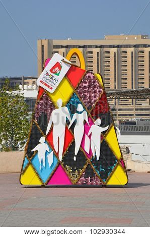 Dubai Shopping Festival (DSF) exhibits at Dubai Creek in Dubai, UAE
