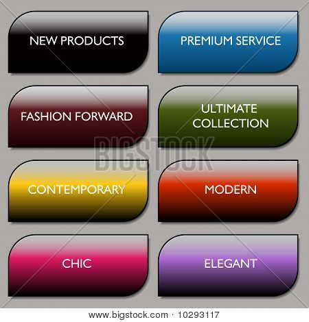 Stylish Communication Fashion Buttons