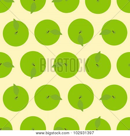 Pattern With Apple Top View