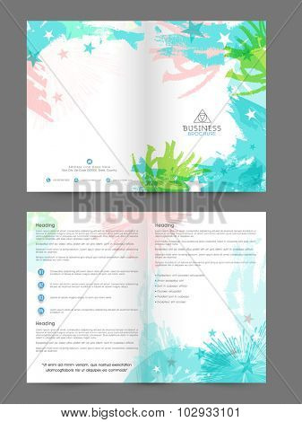 Colorful splash decorated, Creative professional Brochure, Template or Flyer design for your Business or Corporate Sector.