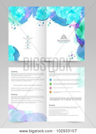 Creative professional Brochure, Template or Flyer design decorated with color splash.