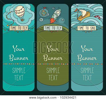 Cartoon Banner Templates