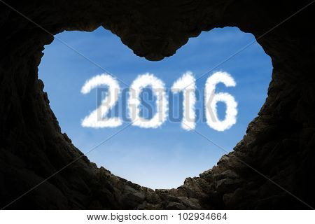 Cave Shaped Heart With Numbers 2016