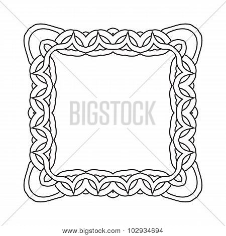Ornamental lace pattern. Abstract ornament. Orient traditional ornament.