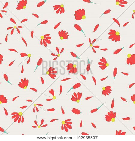 cute flowers seamless pattern with light backdrop
