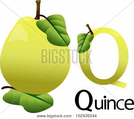 Q font with quince