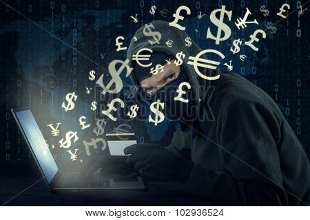 Hacker Stealing Money With Online Transaction