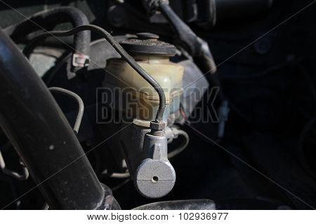 Brake Master Cylinder In The Car