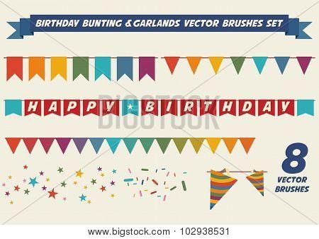 Birthday Garlands Vector Brushes