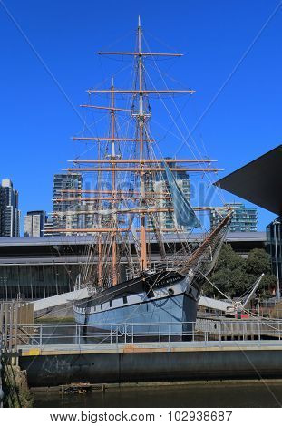 Historical sailing ship Melbourne Australia