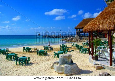 Strange Artifact In A Beach Restaurant In Cancun