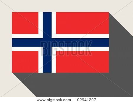 Norway flag in flat web design style.