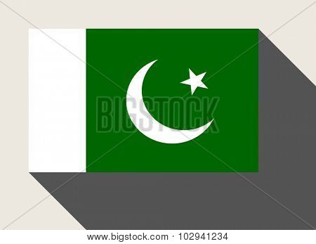 Pakistan flag in flat web design style.