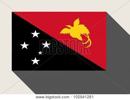 Papua New Guinea flag in flat web design style.