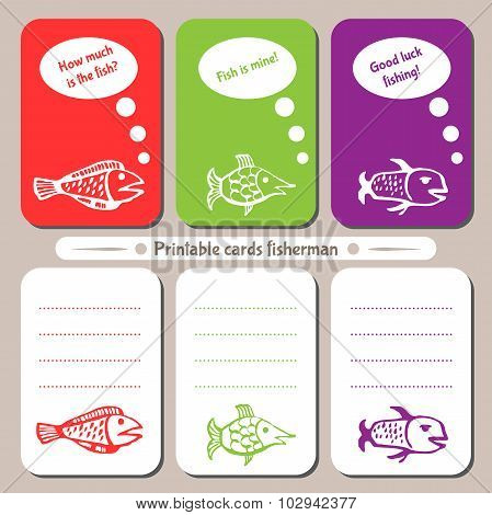 Printable Cards Fisherman