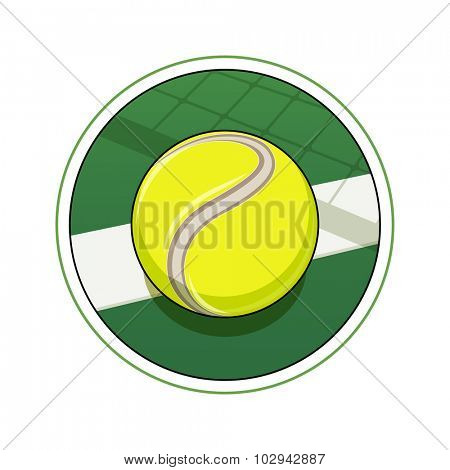 Tennis ball. Eps10 vector illustration. Isolated on white background