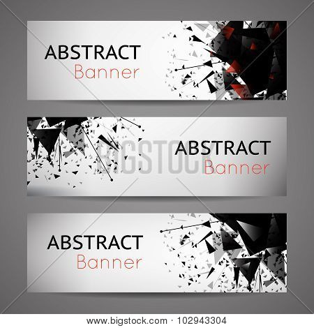 Abstract vector black explosion banners