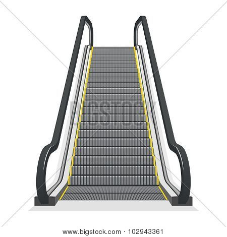 Escalator isolated on white background